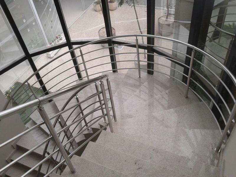 Corrimão de Escada de Inox Preço Bela Vista - Corrimão de Escada Inox