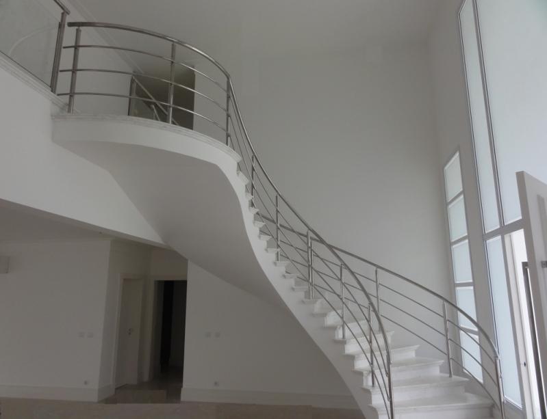 Corrimão de Escada Inox Preço Juquitiba - Corrimão de Escada de Inox