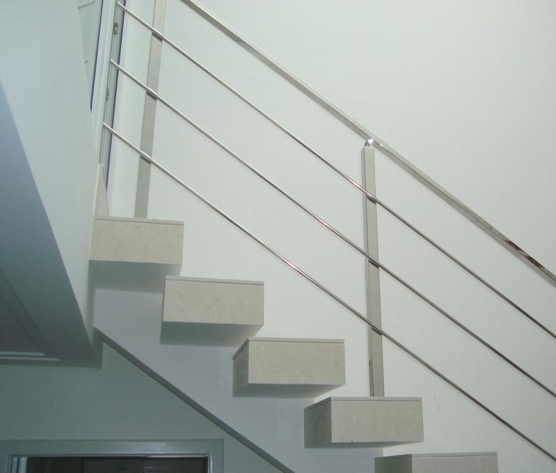 Corrimão de Escada Inox Mandaqui - Corrimão de Escada de Inox