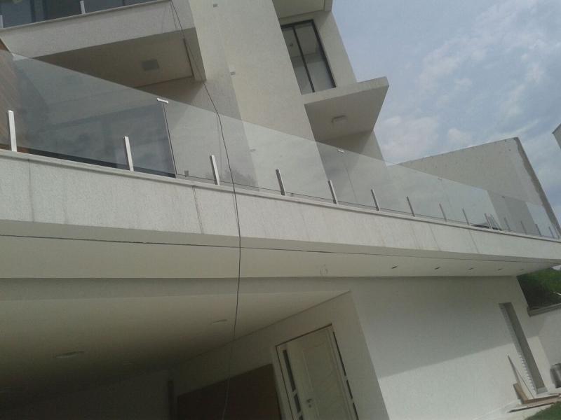 Corrimão de Vidro com Torre Preço Suzano - Corrimão de Vidro para Escada