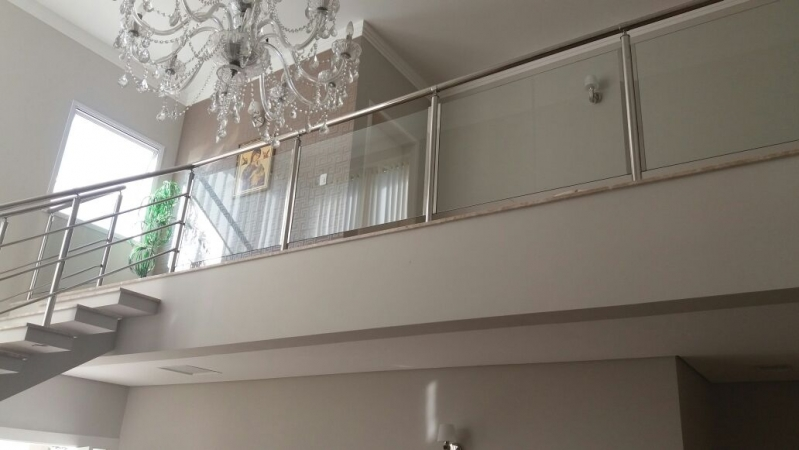 Corrimão de Vidro e Inox Valinhos - Corrimão de Vidro Residencial