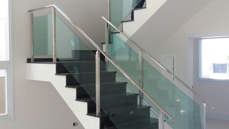 Corrimão de Vidro para Escada Preço Cachoeirinha - Corrimão de Vidro para Varanda