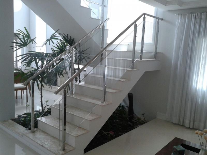Corrimão de Vidro Preço Grajau - Corrimão de Escada em Vidro Temperado