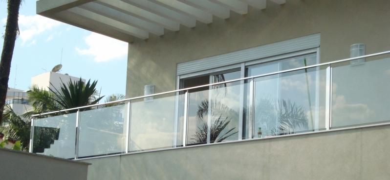 Corrimão de Vidro Temperado Preço Santana - Corrimão de Vidro Verde
