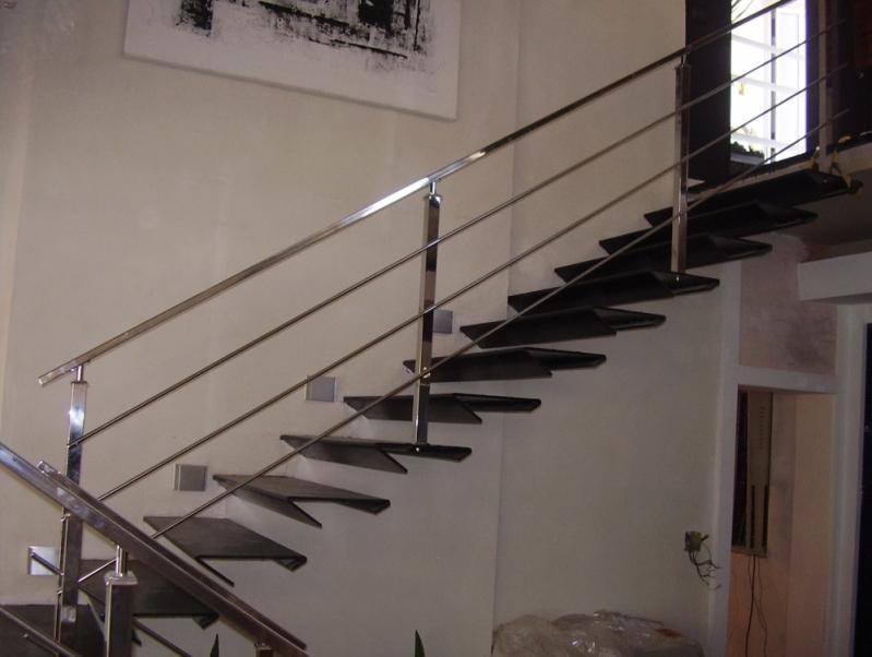Corrimão Escada de Concreto Lorena - Corrimão para Escada de Sala