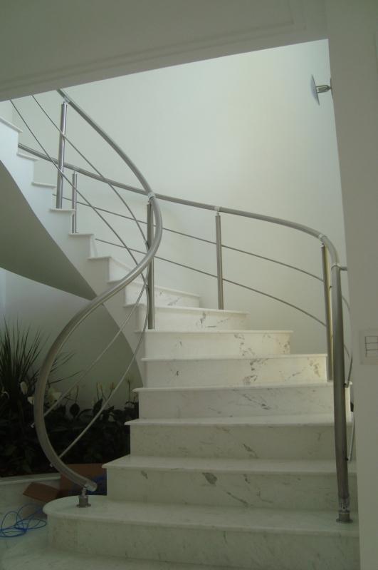 Fábrica de Corrimão de Aço Inox e Vidro Brás - Fábrica de Corrimão de Aço Inox para Escadas