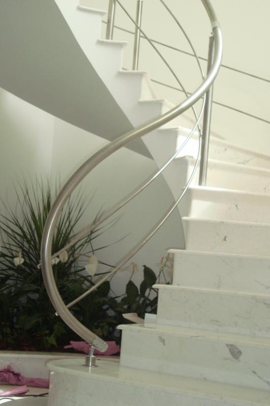 Fábrica de Corrimão de Aço Inox para Escada Caracol Local Sapopemba - Fábrica de Corrimão de Aço Inox para Escadas