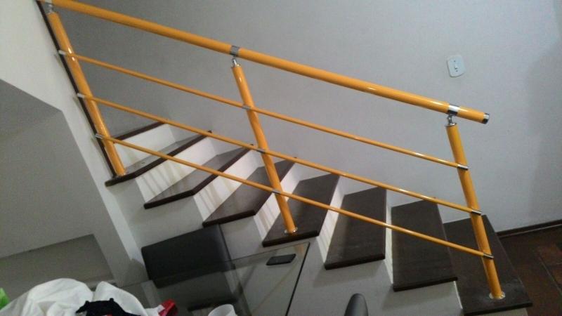 Fábrica de Corrimão para Escada Jardim Europa - Fábrica de Corrimão de Ferro com Vidro