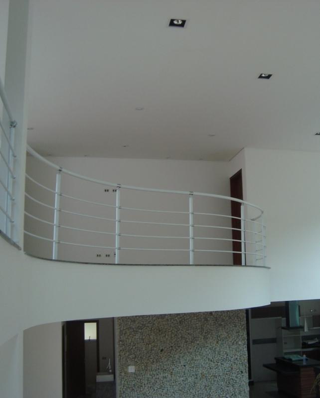 Fábricas de Corrimão de Ferro para Escada Interna Santos - Fábrica de Corrimão de Ferro Cromado