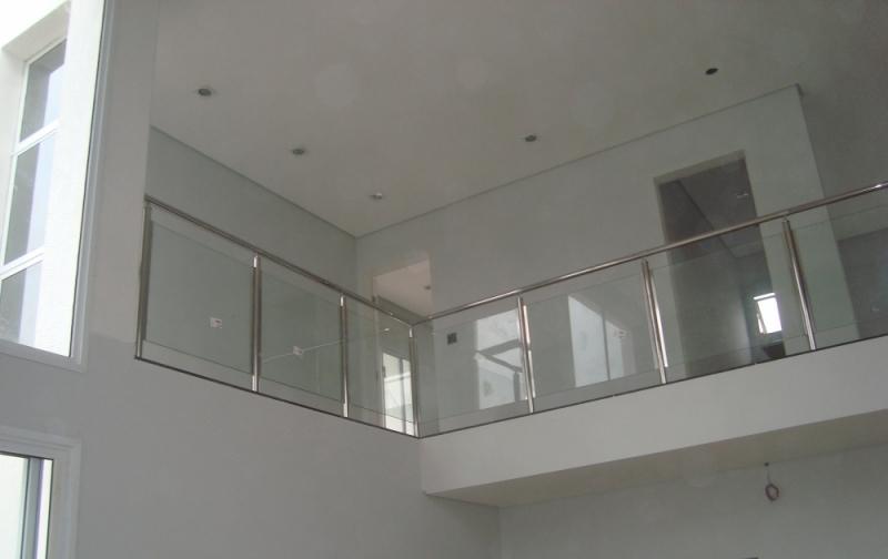 Guarda Corpo de Aço Inox e Vidro Preço Jardim São Luiz - Guarda Corpo em Vidro