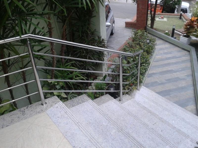 Guarda Corpo de Aço Inox Preço Ferraz de Vasconcelos - Guarda Corpo para Escada