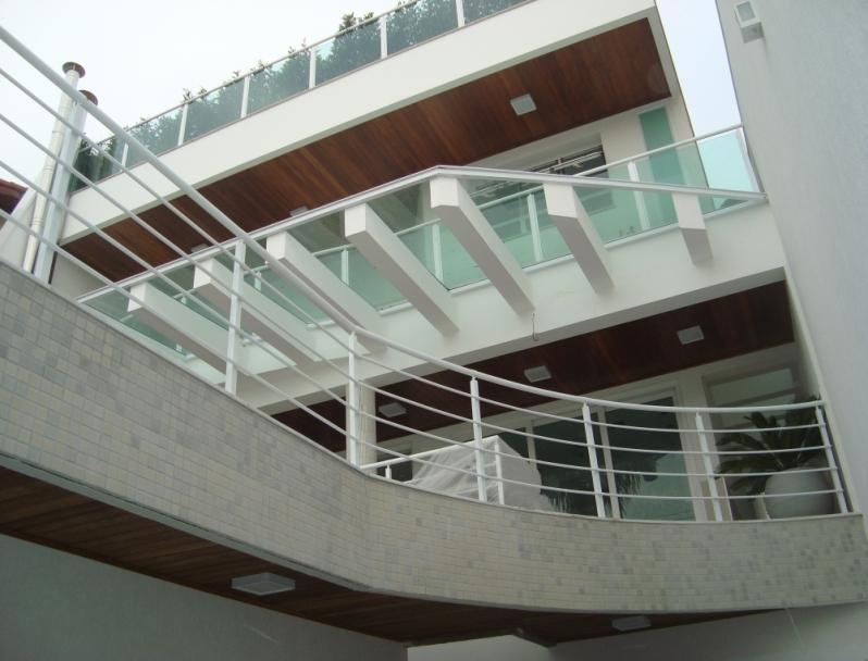 Guarda Corpo em Alumínio Ibirapuera - Guarda Corpo para Escada