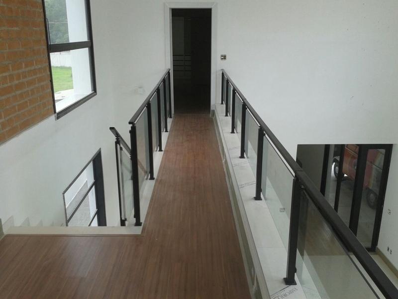 Guarda Corpos de Ferro com Vidro Cambuci - Guarda Corpo para Escada