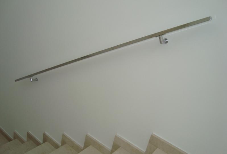 Instalação de Corrimão de Aço Inox sob Medida Valores Iguape - Instalação de Corrimão de Aço Inox com Vidro