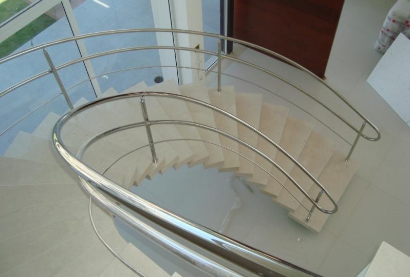 Instalação de Corrimão de Aço Inox sob Medida Guaianases - Instalação de Corrimão de Aço Inox com Vidro
