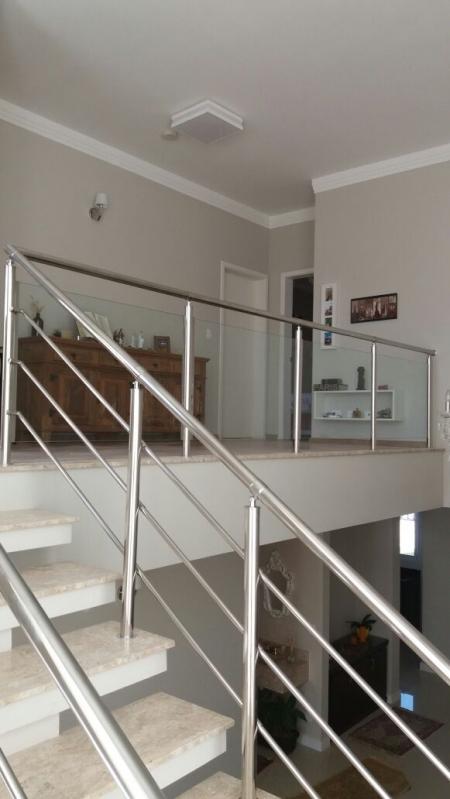 Instalação de Corrimão de Escada em Vidro Temperado São Domingos - Corrimão de Vidro Temperado