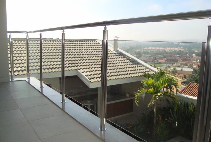 Instalação de Corrimão de Vidro para Varanda Aparecida do Norte - Corrimão de Vidro Verde