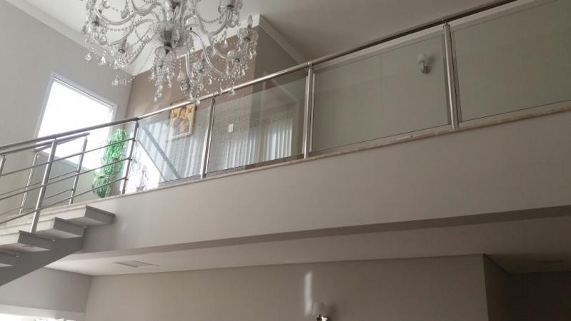 Instalação de Corrimão de Vidro Residencial São Lourenço da Serra - Corrimão de Vidro Fumê