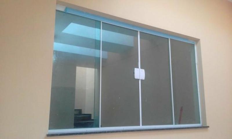 Janela de Vidro Simples Centro - Janela de Vidro para Sala