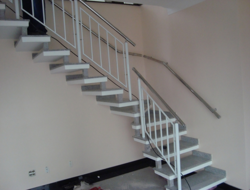 Onde Encontrar Corrimão de Aço Pintado Aricanduva - Corrimão Pintado para Escada