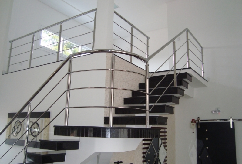Onde Tem Fábrica Corrimão de Aço Inox Aclimação - Fábrica de Corrimão de Aço Inox para Escadas