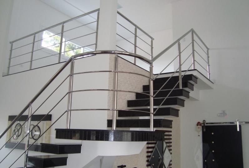 Orçamento de Corrimão de Escada Inox Parelheiros - Corrimão de Escada de Inox