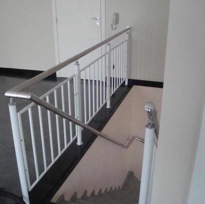 Quanto Custa Corrimão de Aço Pintado Morumbi - Corrimão Pintado para Escada