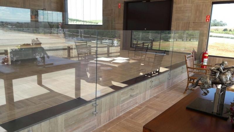 Quanto Custa Corrimão de Vidro com Botão Vila Sônia - Corrimão de Vidro e Inox