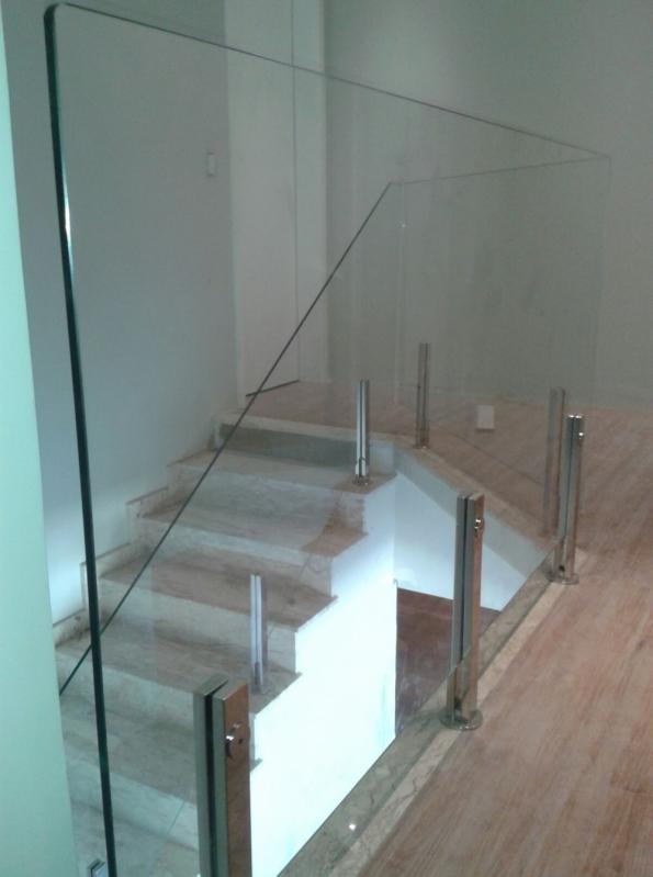 Quanto Custa Corrimão de Vidro com Torre de Aço Campo Grande - Corrimão de Vidro Fumê