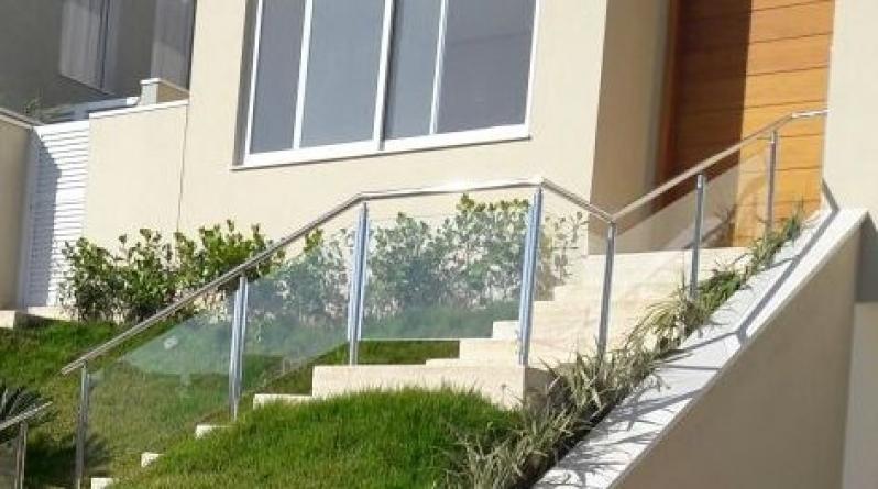 Quanto Custa Corrimão de Vidro Fumê Jardim São Luiz - Corrimão de Vidro Fumê