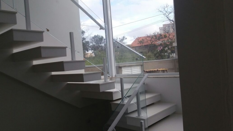 Quanto Custa Corrimão de Vidro para Escada Jaboticabal - Corrimão de Vidro Residencial