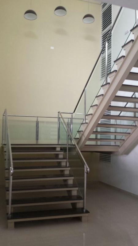 Quanto Custa Guarda Corpo de Aço Inox e Vidro Ipiranga - Guarda Corpo para Escada