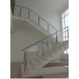 corrimão de aço inox para escadas
