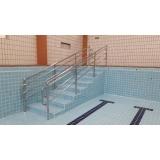 corrimão de aço inox para piscina