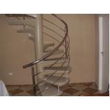 corrimão de aço inox para escada caracol preço Itu
