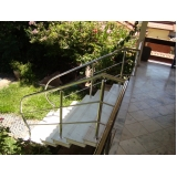 corrimão de aço inox para escada caracol Alto de Pinheiros