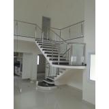 corrimão de aço inox para escadas preço Juquitiba