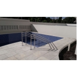 corrimão de aço inox para piscina Franco da Rocha