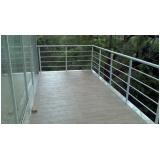 corrimão de alumínio para escada caracol Vila Buarque