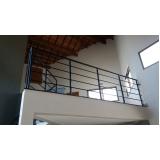 corrimão de alumínio para escada externa preço Santa Isabel