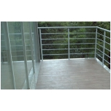 corrimão de alumínio para escada interna preço Guararema