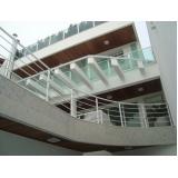 corrimão de alumínio para escada interna Sé
