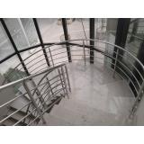 corrimão de escada de inox preço Taboão da Serra