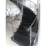 corrimão de escada de inox valor Diadema