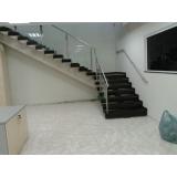 corrimão de escada em vidro temperado preço Glicério