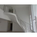 corrimão de escada inox preço Jardim América