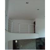 corrimão de ferro para escada interna preço Cubatão