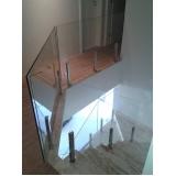corrimão de vidro com torre de aço preço Embu das Artes