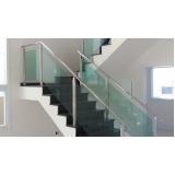 corrimão de vidro para escada preço Ibirapuera