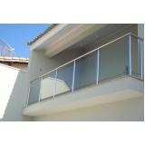 corrimão de vidro para varanda Casa Verde